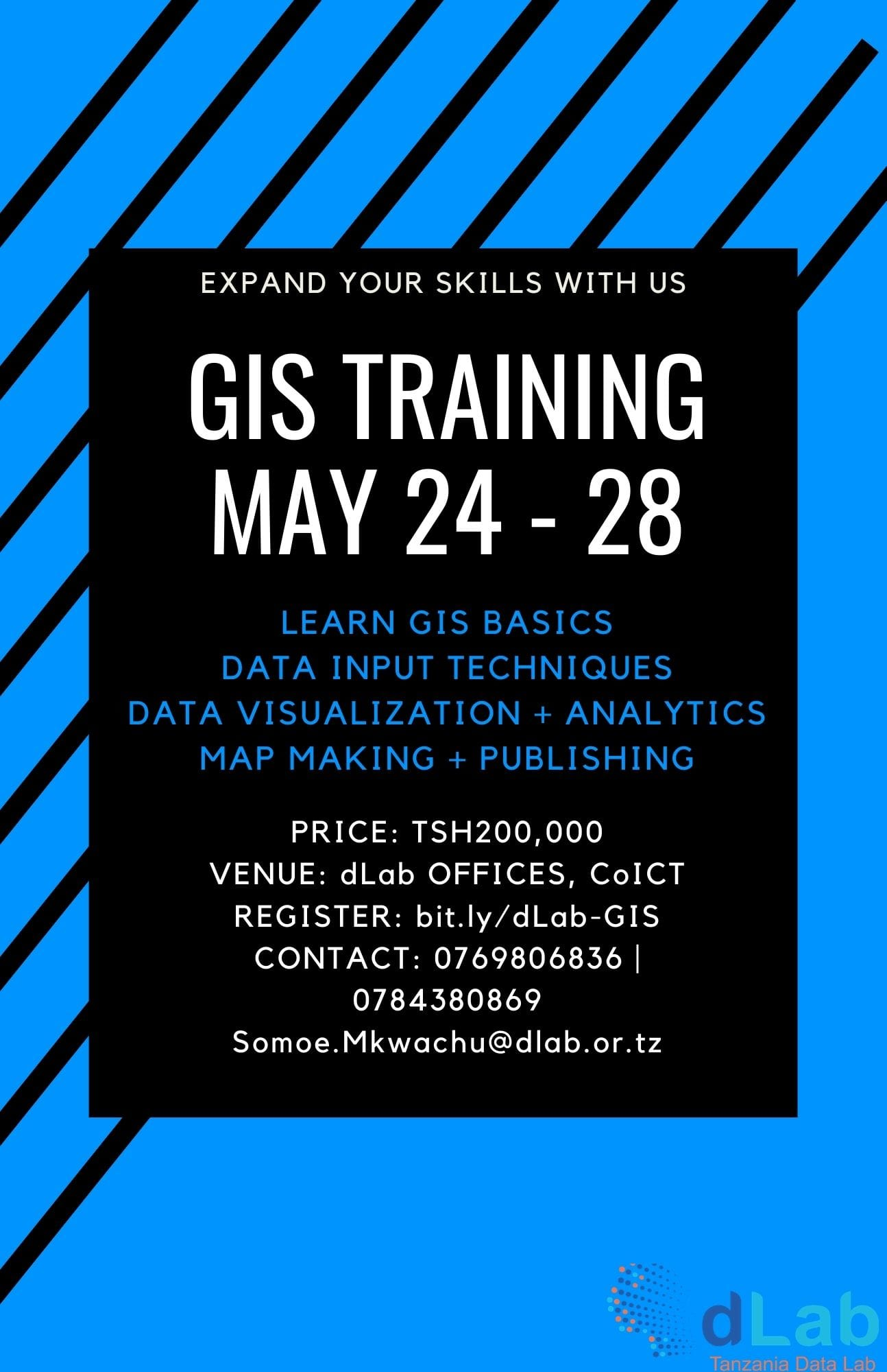dLab is hosting a GIS Training this May, sign up!